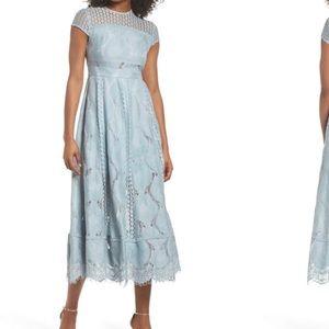 NWT Anthropology Foxiedox Theodora Lace Midi Dress